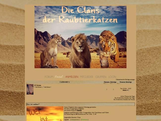 Die Clans der Raubtierkatzen