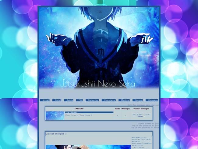 Utsukushi Neko Sekai   Blue Yuki