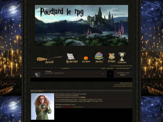 Harry Potter RPG intérieur château new