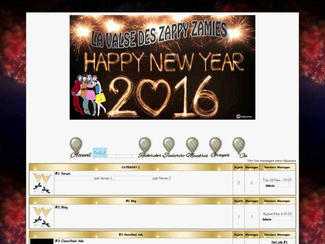 Happy New Year 2016 chez les Zappy Zamies