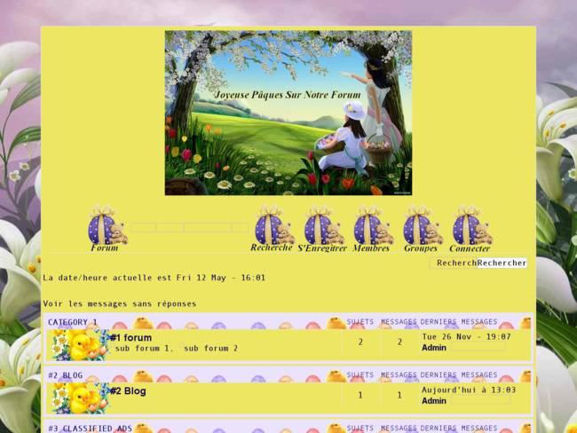 Joyeuse pâques sur notre forum