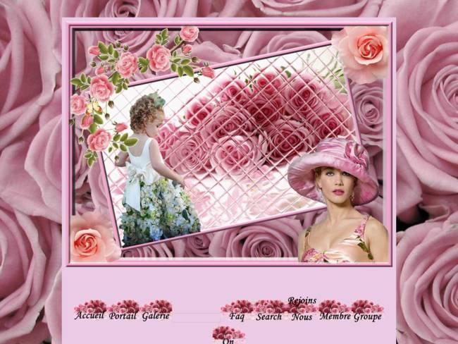 Les jolies roses rose