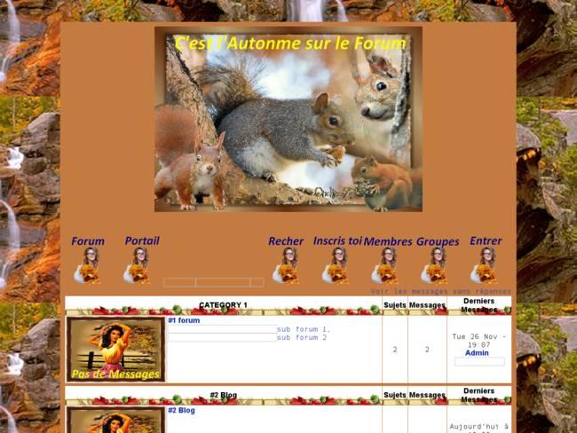 C'est l'Autonme sur notre forum5