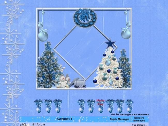 Noël de bleu vêtu...