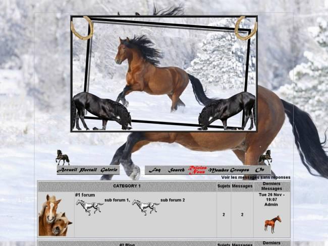 Le cheval et l'hiver