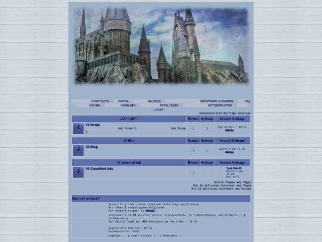 Blue Hogwarts