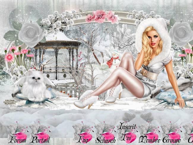 jolie hiver blanc