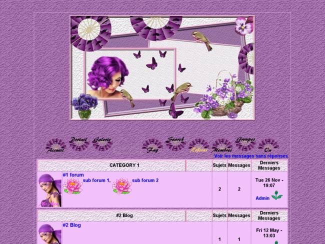 Jolies violettes...