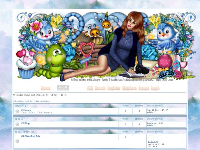 Design Enjoy Valentine Blue