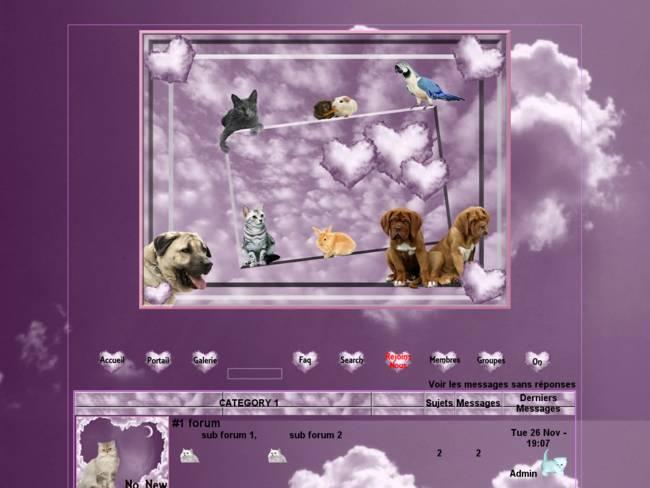Des animaux dans les nuages