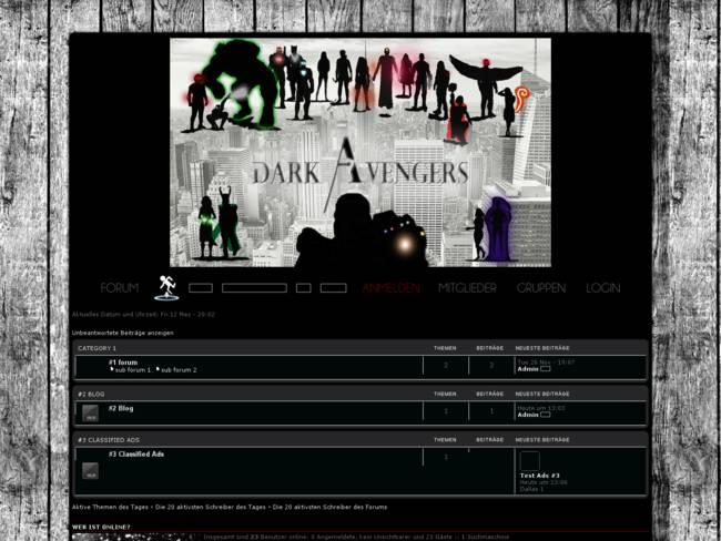 Dark Avengers Red Blue