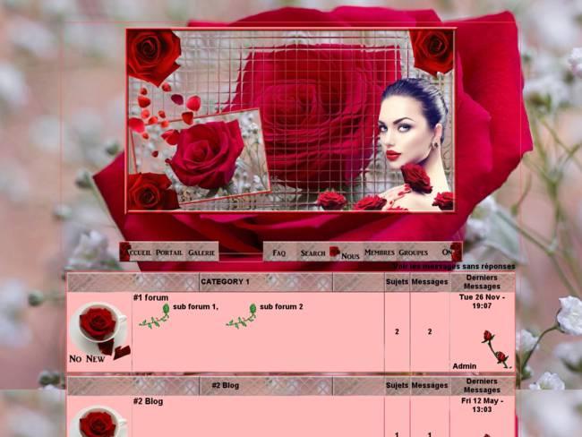 Jolies roses rouge...