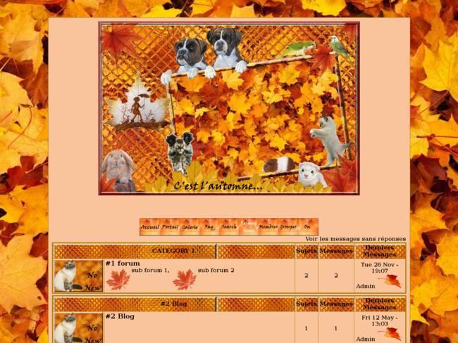 C'est l'automne pour nos amours...