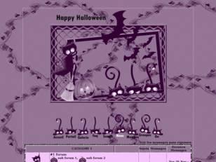 Halloween violet...