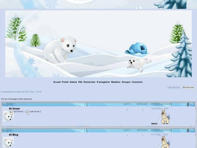 thème hivernal Igloo