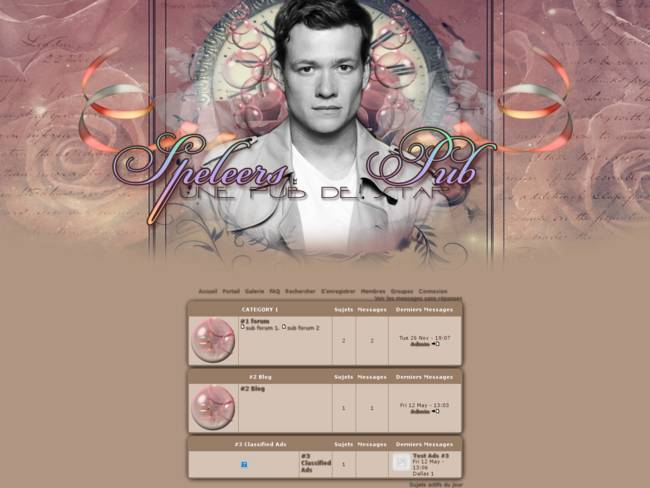 Ed Speleers Rose Gold
