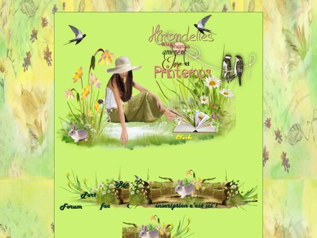 hirondelles du printemps