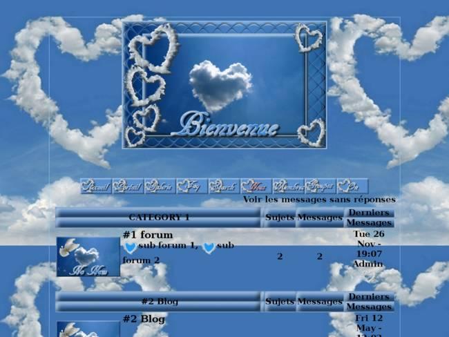 Des cœurs dans les nuages