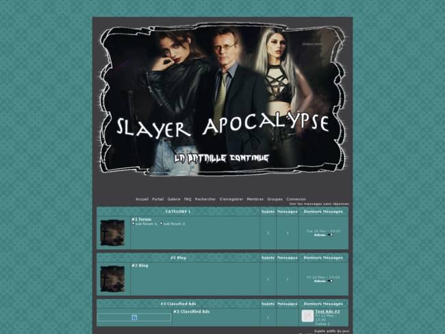 Apocalypse in Sunnydale