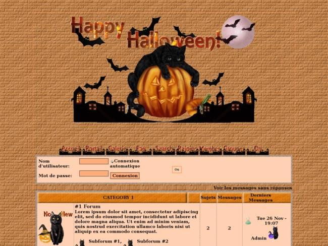 Chats d'Halloween
