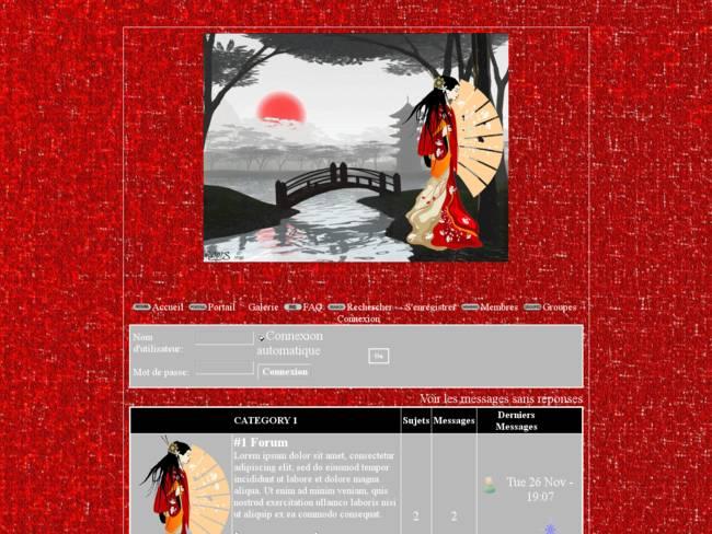 Femme asiatique dans décor zen