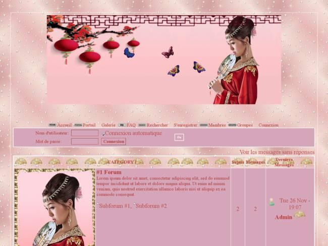 Femme Asiatique et papillons