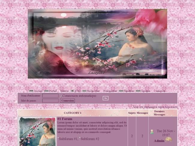 Femme songeuse & fleurs de cerisiers