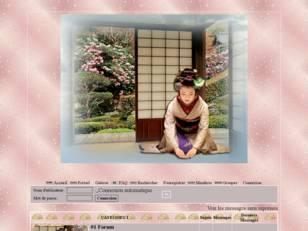 Geisha dans décor zen