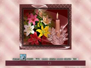 Chandelle & fleurs