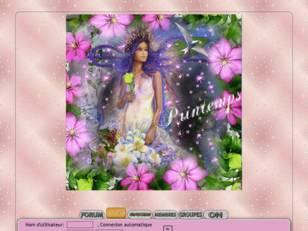 Printemps femme & fleurs