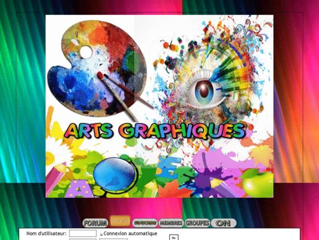 Arts graphique palette d'artiste