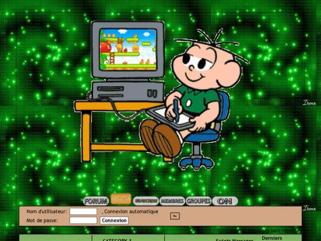 Garçon ordinateur/humour/jeux