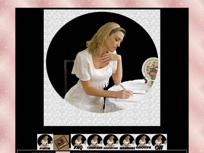 Femme qui écrit...