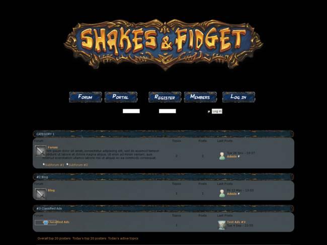 greeksf forumotion shakes & fidget