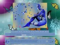 Femme & papillons