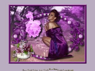 Femme aux fleurs viola...