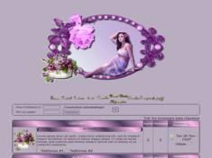 Jolie femme ton de violet