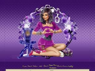 Femme coeur violet