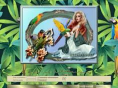 Femme aux perroquets