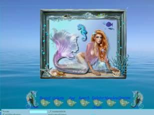 Sirène dans océan