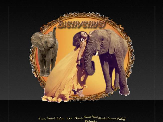 Femme & éléphants