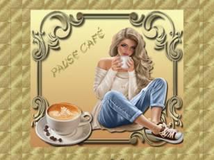Pause café or