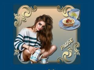 Pause femme avec théiè...