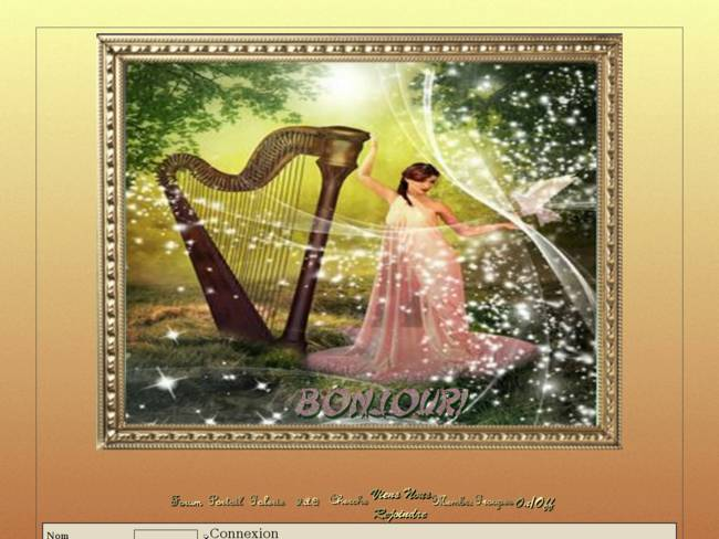 Harpiste à la colombe