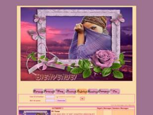Femme au paysage rosé
