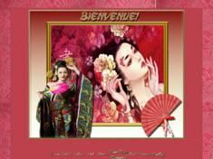 Jolie asiatique rose