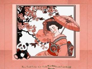 Geisha & panda cou...