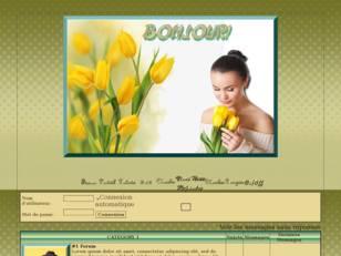 Femme aux tulipes jaune