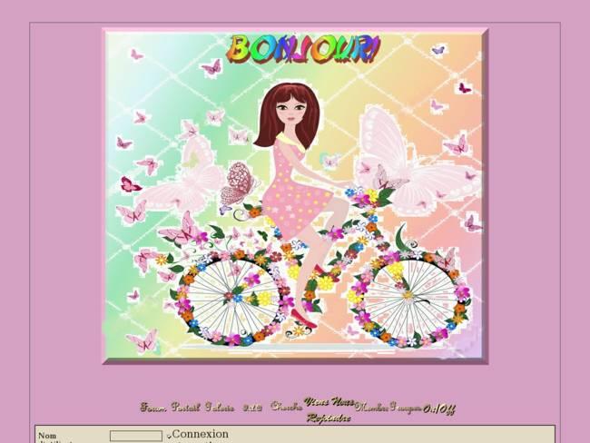 Fille en vélo