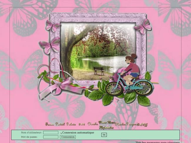 Fille en vélo près cour d'eau